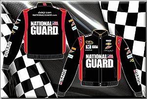 2014 Dale Earnhardt Jr. National Guard Mens Black Twill Nascar Jacket XL by J.H. Design