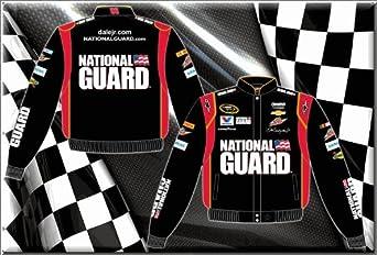 Dale Earnhardt Jr. National Guard Mens Black Twill 2014 Nascar Jacket by RacingGifts