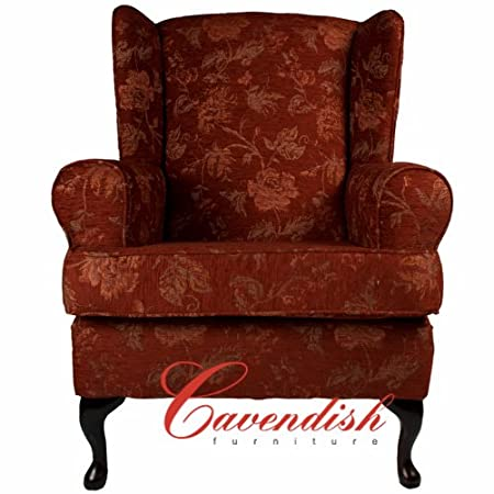 """LUXURY ORTHOPEDIC HIGH SEAT CHAIR in FLORAL TERRACOTTA FABRIC 19"""" Seat Height"""