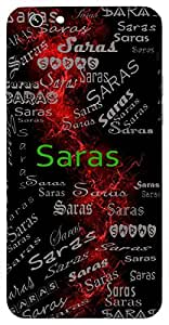 Saras (Moon) Name & Sign Printed All over customize & Personalized!! Protective back cover for your Smart Phone : Moto X-STYLE
