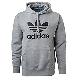 Amazon.com: Adidas Mens Originals Trefoil Logo Hoodie