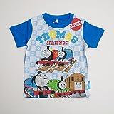 きかんしゃトーマス 半袖Tシャツ 100cm/110cm/120cm (642TM0021) (120cm, ブルー)