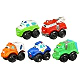 Playskool - 08771 - Jouet Premier Age - Voiture - Mini Ptimou Pack de 5 V�hicules - Rescue Fleetpar Playskool