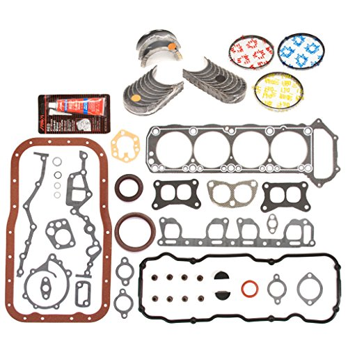 Evergreen Engine Rering Kit FSBRR3001EVE\0\0\0 83-88 Nissan Pickup 720 D21 Pathfinder Z24 Full Gasket Set, Standard Size Main Rod Bearings, Standard Size Piston Rings (88 Nissan Pickup compare prices)