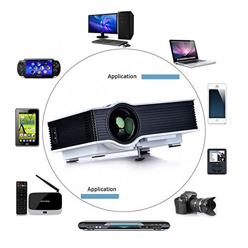 Multi media mini portable 800 lumens led video projector for Micro projectors mini projectors