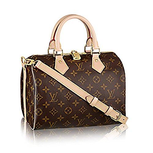 fed0e4862f5f Authentic Louis Vuitton Monogram Crosss Body Leather Handles Handbag Canvas  Handbag Speedy Bandouliere 25 Article