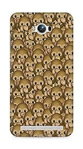 Amez designer printed 3d premium high quality back case cover for Asus Zenfone Max ZC550KL (monkey emoji )