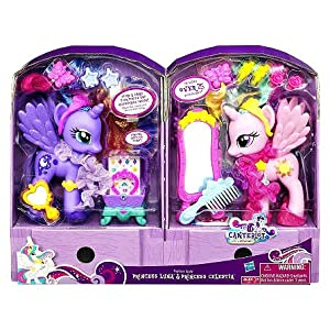 My Little Pony Exclusive Canterlot Figure 2pack Fashion Style Princess Luna Princess Celestia