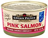 Natural Alaskan Pink Salmon by Crown Prince - No Salt Added, 7.5-Ounce Cans (Pack of 12) Image