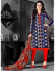 Typify Chanderi Semistitch Dress Material - B019BGAP4E