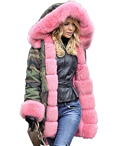 Roiii-Women-Militray-Outdoor-Parka-Hoodie-Fur-Lining-Jacket-Coat-Winter-Overcoat