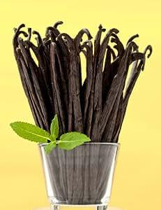 Premium Bourbon-Madagascar Vanilla Beans Plus FREE Pure Organic Ground Beans (16 Beans)