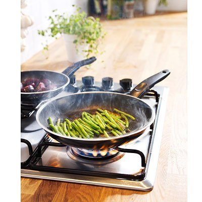 Ikea Kavalkad Frying Pan Set of 2, Black Teflon Classic Non-stick Coating (Ikea Frying Pan compare prices)