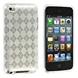Clear Checker TPU Rubber Skin Case Cover New for Apple Ipod Touch iTouch 4th Generation Gen 4g 4 8gb 32gb 64gb - Electromaster(TM) Brand