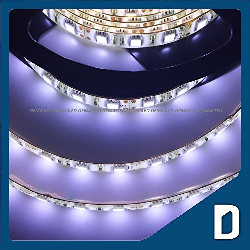 24W 16.4 Ft Waterproof Smd 3528 Flexible Led Light Strip - Cool White / Day Light- 300 Leds - Lighting Smd3528 - Ribbon Cord - Ip65