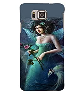 ColourCraft Beautiful Angel Design Back Case Cover for SAMSUNG GALAXY ALPHA G850