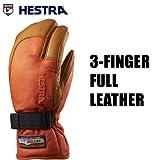 HESTRA(ヘストラ) ヘストラ スキーグローブ ミトン 3-FINGER FULL LEATHER Flame Red Cork(13-14 13/14 2014)hestra スキーグローブ 7