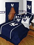New York YANKEES 4PC TWIN BEDDING SET, Comforter, Sheets, Sidelines, Baseba ....