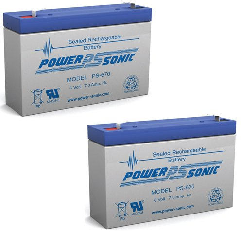 Agm Sealed Ub670 6V 7Ah Battery Replaces 7.2Ah Cf6V7 Pe6V7.2F1 Sla0925 Ca160 - 2 Pack