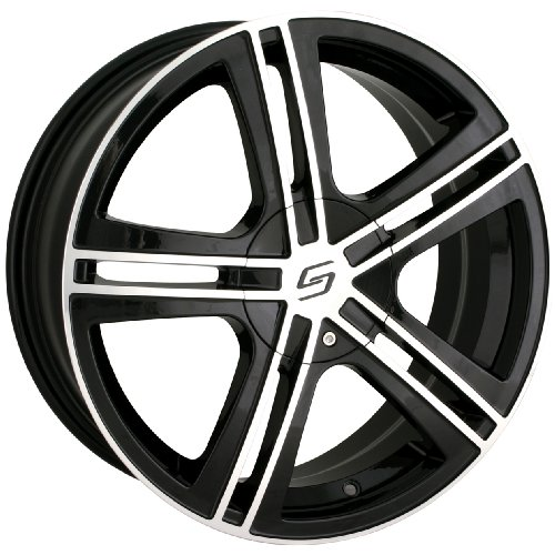 Sacchi S62 262 Black Wheel with Machined Face (17x7