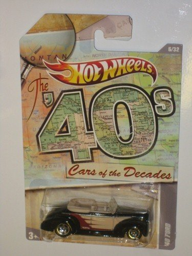 Hot Wheels The 40's Cars of the Decades - 6/32, Convertible Ford, 1:64 Scale - 1