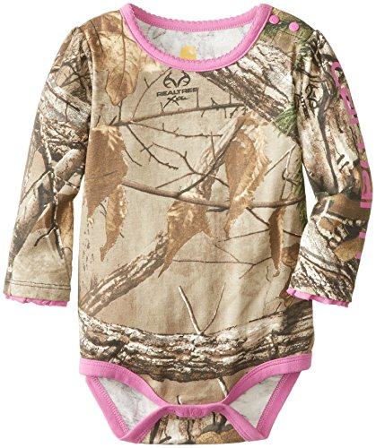 Carhartt Baby-Girls Infant Camo Long Sleeve Bodysuit, Realtree Xtra, 6 Months front-647735
