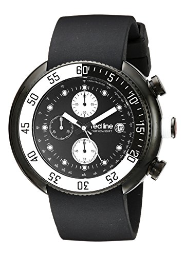 Red Line Driver 50038-BB-01-WBBZ 50 Stainless Steel Case Black Band Mineral Men's Quartz Watch