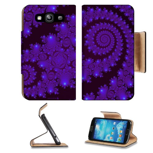 Pattern Purple Heliciform Samsung Galaxy S3 I9300 Flip Cover Case With Card Holder Customized Made To Order Support Ready Premium Deluxe Pu Leather 5 Inch (132Mm) X 2 11/16 Inch (68Mm) X 9/16 Inch (14Mm) Liil S Iii S 3 Professional Cases Accessories Open