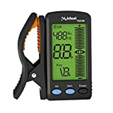 Meideal Digital Chromatic Clip on Tuner for Violin Mandolin with Big LCD High Accuracy Fast Tuning Pick Holder Flat Tuning Black