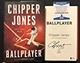Chipper Jones signed Book Ballplayer 1st Print Braves WS Champ HOF BAS Beckett