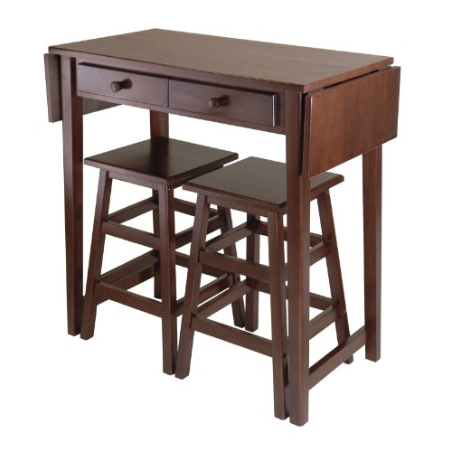 Winsome Mercer Double Drop Leaf Table with 2 Stools (Island Tables compare prices)