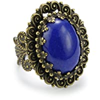Sorrelli Aurora Sky Vintage Inspired Center Stone Adjustable Ring