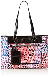 Nine West 9 On The Go Tote Med Shoulder Bag,Splash,One Size