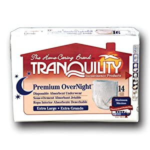 Tranquility 2117 Premium OverNight Pull On diapers XL 14/Bag by Principle Business Enterprises