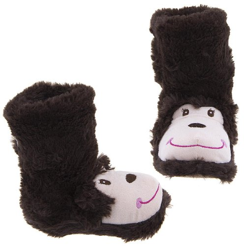 Image of Capelli NY Monkey Animal Bootie Slippers for Girls (B007XKS3UE)