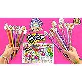 Shopkins Doodling Fun Pencils, Activity Book, and Erasers!