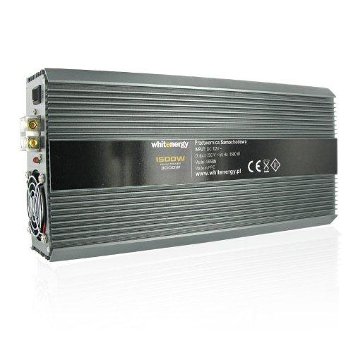 WHITENERGY® Softstart Wechselrichter Spannungswandler DC 12V auf AC 230V 1500W Dauer / 3000W Spitze (modifizierter Sinus) Inverter Voltage Converter mit 2 Universalen AC Ausgängen
