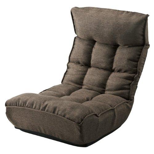 サンワダイレクト コイルクッション座椅子 フロアチェア ハイバック 折りたたみ可能 ブラウン 150-SNC102BR