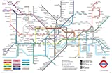Satin Matt Laminated London Underground Poster Tube Map Planner - 36 x 24 Inches (91.5 x 61 cms)