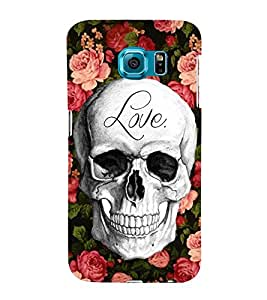 Love Skull 3D Hard Polycarbonate Designer Back Case Cover for Samsung Galaxy S6 Edge+ :: Samsung Galaxy S6 Edge Plus :: Samsung Galaxy S6 Edge+ G928G :: Samsung Galaxy S6 Edge+ G928F G928T G928A G928I