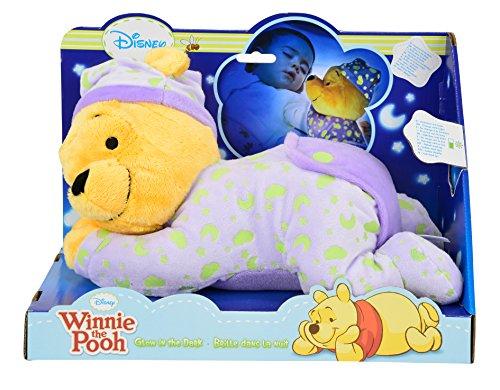 Simba 6315871568 - Disney Winnie The Puuh Gute Nacht Bär mit Leuchtsymbolen