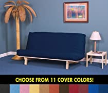 Hot Sale Dorm Futon Sofa Bed - Full Size Frame, Mattress & Black Cover