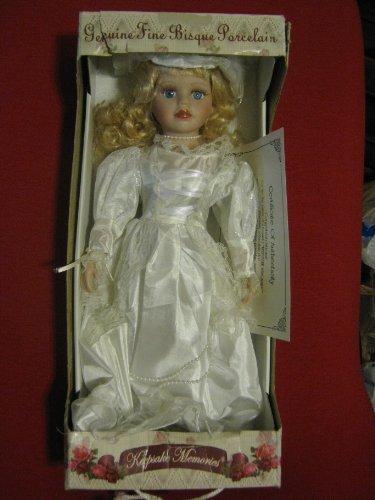 17 Donnatella De Roma Collection Genuine Fine Bisque Doll with Stand