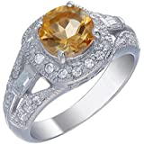 Sterling Silver Amethyst, Citrine, Garnet or Peridot Ring