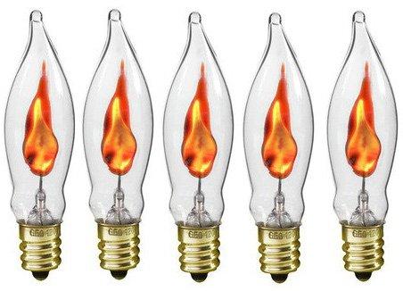 creative hobbies a101 flicker flame light bulb 3 watt 130 volt e12 candela. Black Bedroom Furniture Sets. Home Design Ideas