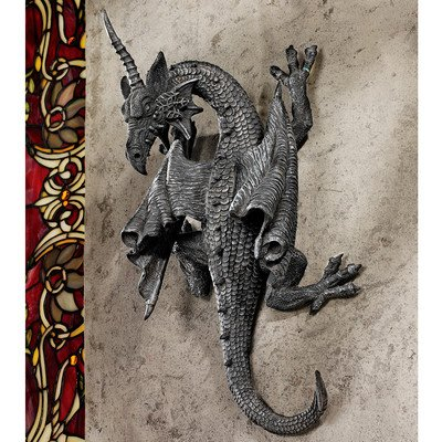 Design Toscano PD1376 Horned Dragon of Devonshire Wall Sculpture