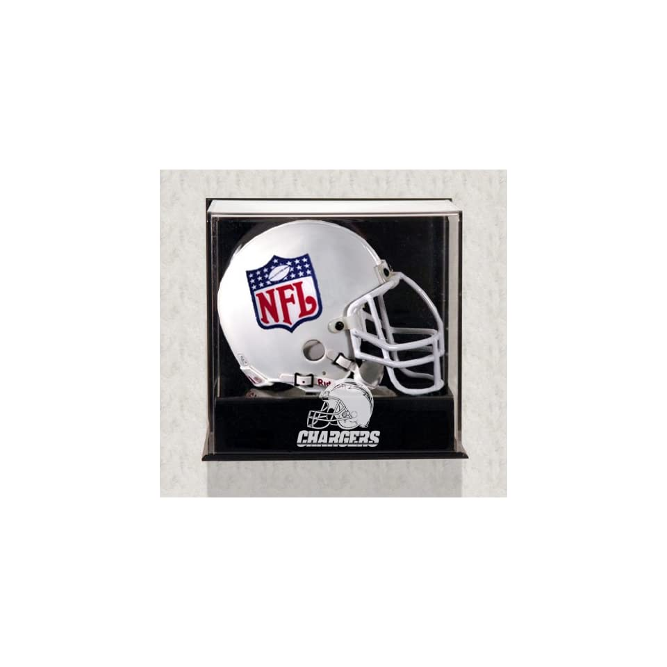 San Diego Charges Mini Helmet Display Case   Wall Mounted