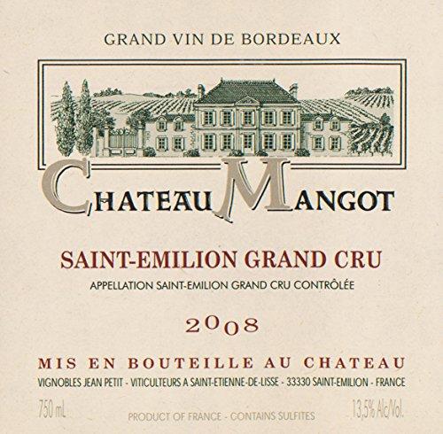 2008 Chateau Mangot Saint-Emilion Grand Cru Bordeaux 750 Ml