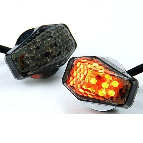 15 Amber LED Flush Mount Smoke Turn Signal Indicator Blinker Light Universal For Motorcycle Sport Street Racing Bike (Blinker Lights Led compare prices)