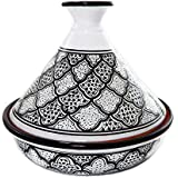 Le Souk Ceramique Cookable Tagine, Black and White Honey Design